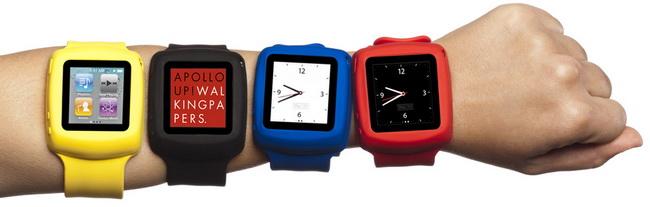Griffin Slap Black ремешок на запястье, превращающий iPod nano 6G в часы купить цена москва